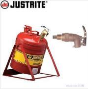 JUSTRITE带龙头安全罐_19L倾斜式分装罐7150156