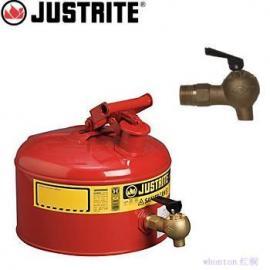 JUSTRITE9.5L安全架式分装罐7225140 配08450龙头,红色,钢制