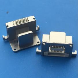 苹果公母一体插座 8P二合一苹果母座 夹板0.6 背夹充电
