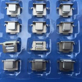 锌合金母座/苹果8P公母一体母座 苹果二合一连体式插座