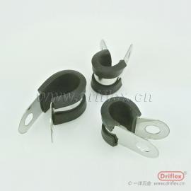 厂家直销不锈钢R型连带胶条卡箍橡胶卡箍减震管夹胶条喉箍