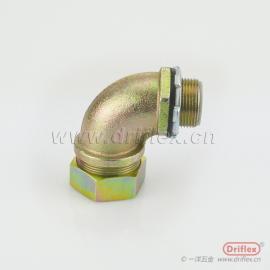 90度金属软管弯接头 包塑金属穿线软管弯头 铁镀锌软管接头