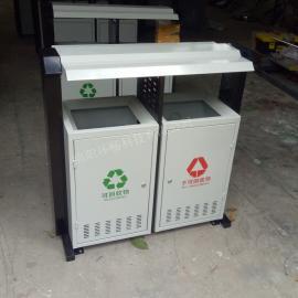 大学校园垃圾桶 金属垃圾箱制品 新款钢板垃圾箱