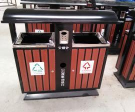 户外塑木分类垃圾桶 多分类家属校园垃圾箱 环畅果皮箱