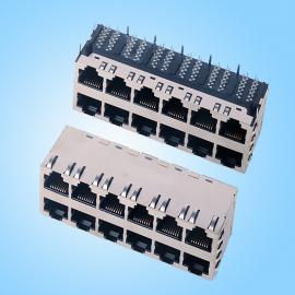 2x6网口接口 1G集成RJ45网口 不带LED灯 -创粤