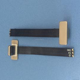 苹果无线充电插头3P T型公头 苹果无线单充电背夹排线长度可定制