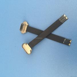 MICRO 2P正向公头 前五后二 带FPC软排线插头 无线充电公头