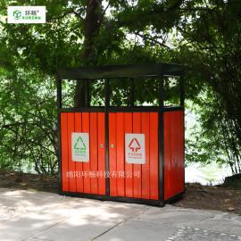 户外方形果皮箱 木条垃圾桶 市政垃圾箱定制生产厂