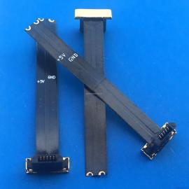 MICRO 安卓反向无线充电头L=40MM T型反向全塑公头 2P 套热缩管