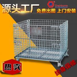 厂家供应可折叠可移动直销物流车间网格铁箱仓储笼蝴蝶笼