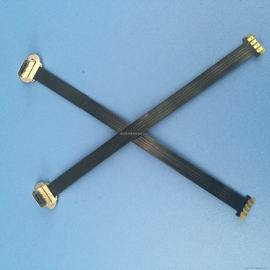 MICRO 无线充电 4P L=90MM 5V-2A T型软排线FPC MICRO公头