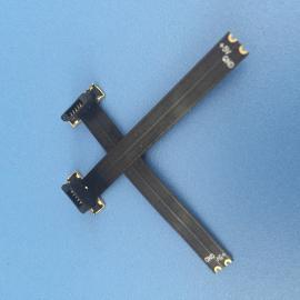 MICRO 无线充电公头 软排线 2P 反向全塑 5V充电功能