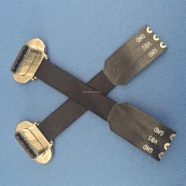 TYPE-C 3.1无线充公头 带FPC软排线 套热缩管 正反插无线充电