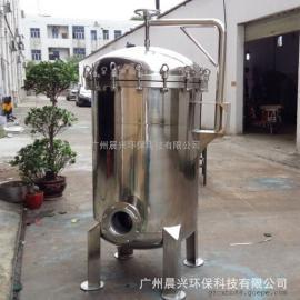 食用油加工除杂前置食品级不锈钢袋式过滤器 大流量多袋式过滤机