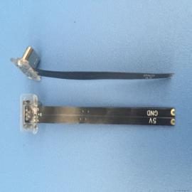 三星安卓MICRO反向公头 2P 透明后盖 无线充电公头