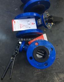 SD41XX-10脱硫专用法兰手动蝶阀