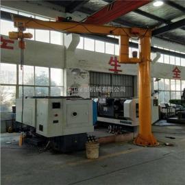 亚重2吨旋臂式起重机 物料吊运电动悬臂吊 单臂起重机 单臂吊