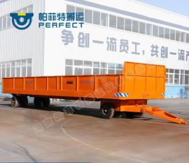 车间物料运输无动力叉车低平板拖车电动拖车牵引