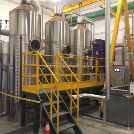 �h保�U水蒸�l器 降膜式蒸�l器 �涡А㈦p效、多效降膜蒸�l器