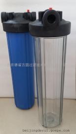 20英寸大胖大号塑料透明过滤器1寸DN32;聚丙烯PP透明工业用滤壳