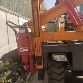 厂家直销装载机护栏打桩机 公路波形护栏打桩机