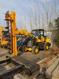 安装电线杆水泥杆挖坑机 电线杆挖坑机 装载机挖坑机多少钱