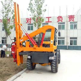 新款920波形护栏打桩机 铲车式护栏打桩机 护栏打桩机厂家现货
