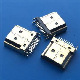 HDMI高清接口 19P�A板焊�公�^ �A板1.0-1.6mm�~叉�_ �~�ゅ�金