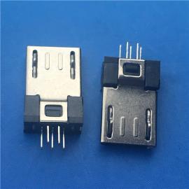 超薄3.0 MICRO USB公头5P 夹板1.0 包胶3.7 无卡点 有弹无脚