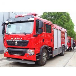 重汽消防车厂家--重汽6吨水罐消防车