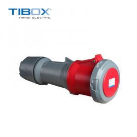 TIBOX工业插头防水接插件舞台专用63A 400V 红色3P+E连接器IP67