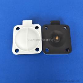 元创DN25双层分离隔膜阀膜片PTFE+EPDM四氟耐高温垫片