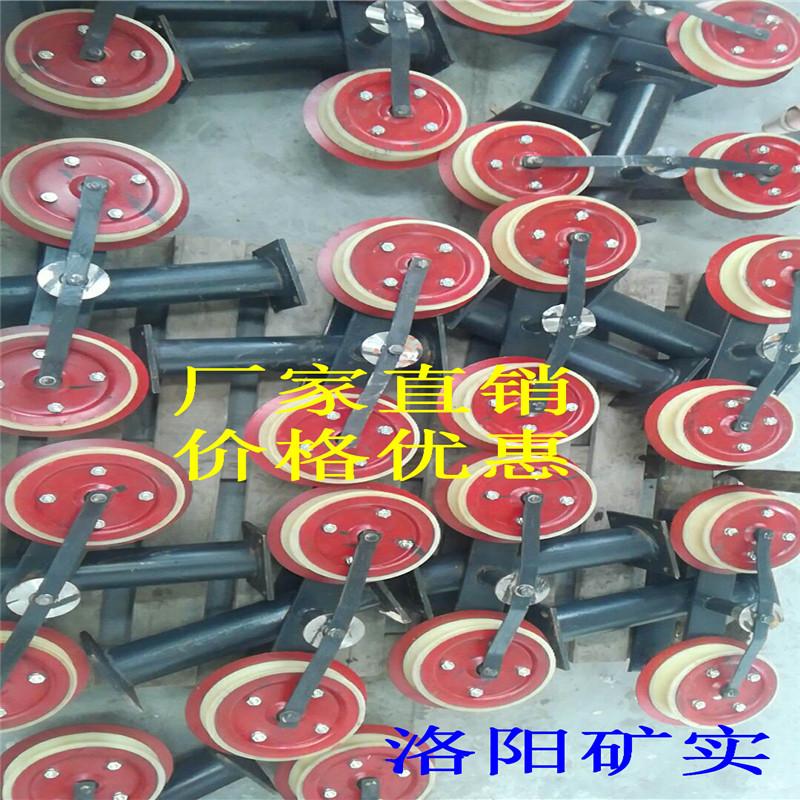 厂家直销矿用猴车单托轮、双托轮、悬轮架、托绳轮 质量保证!