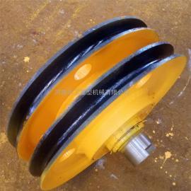 亚重耐磨港机滑轮组 起重定滑轮 10t铸钢滑轮组 直径430滑轮片