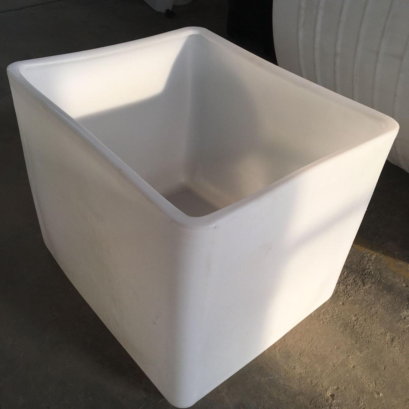 厂家供应敞口1吨集装桶1000L方形大口径塑料桶PE塑料化工吨桶