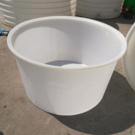 全新定制500L白色食品级圆桶PE塑胶圆桶敞口塑料桶酱菜腌制桶