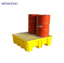 WHONTON钢制格栅4桶盛漏托盘TWK-1403 4桶装、镀锌钢格栅、PE底托