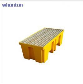 WHONTON钢制格栅2桶盛漏托盘TWK-1206 2桶型、镀锌钢格栅、PE底托