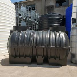 2吨环保PE三格式化粪池城乡整改化粪池地理式污水处理设备