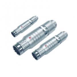 直插头S1S22B0C-P08FGH-5000防水金属插头IP68多键位防误插