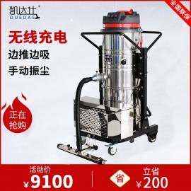 不用插电源的可以推着吸的大型电动吸尘器