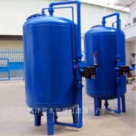 清泽蓝锰砂过滤器 印染厂井水除铁除锰过滤器 立式A3碳钢罐厂家