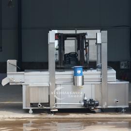 供应厂家直销洗刷刷XSS-3000锅巴油炸流水线 全自动油炸流水线