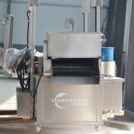 供应厂家直销XSS-3000全自动油炸流水线加工 小型麻花油炸流水线