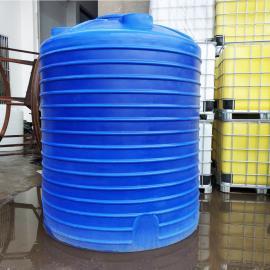 5000L加厚水产品养殖水箱5吨pe水箱带盖水塔储水罐厂家直销