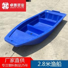 塑料船渔船捕鱼船双层养殖钓鱼船牛筋小船保洁观光船冲锋舟马达1