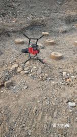 低油耗高速钻孔就选雷力手扶螺旋地钻挖洞机