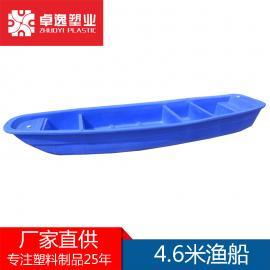 塑料船渔船加厚双层捕鱼船养殖钓鱼牛筋小船冲锋舟保