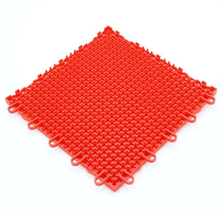 定做室外篮球场拼装式悬浮地板塑料运动地板防滑跑道定制