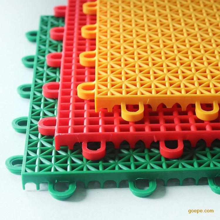 厂家直销双层米格多功能拼装地板 悬浮式幼儿园球场专用pp地板